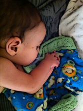 praying baby