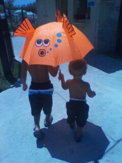 To the pool we go!