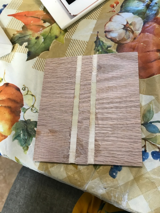 My husband is making wood coasters. They take a lot of work.