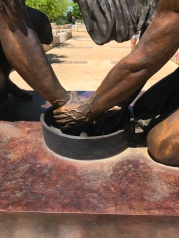 The Cross at Kerrville - Jesus washing the feet...